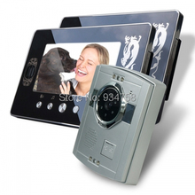 1V2 7 Inch TFT Digital Color Hands-free LCD Monitor 1/3 CMOS Night Vision Camera Video Door Phone