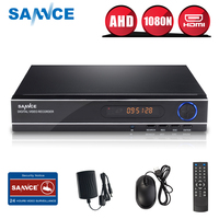 SANNCE AHD 8CH 3 IN1 1080N CCTV DVR Digital Video Recorder Home Security Surveillance System Full H.264 HDMI P2P Remote Access
