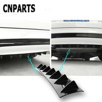 CNPARTS For Hyundai Tucson 2017 Solaris ix35 i30 Suzuki Swift Mitsubish ASX Mazda Car Rear Bumper 3D Cool Shark Spoiler Sticker