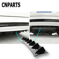 CNPARTS For Hyundai Tucson 2017 Solaris ix35 i30 Suzuki Swift Mitsubish ASX Mazda Car Rear Bumper 3D Cool Shark Spoiler Sticker