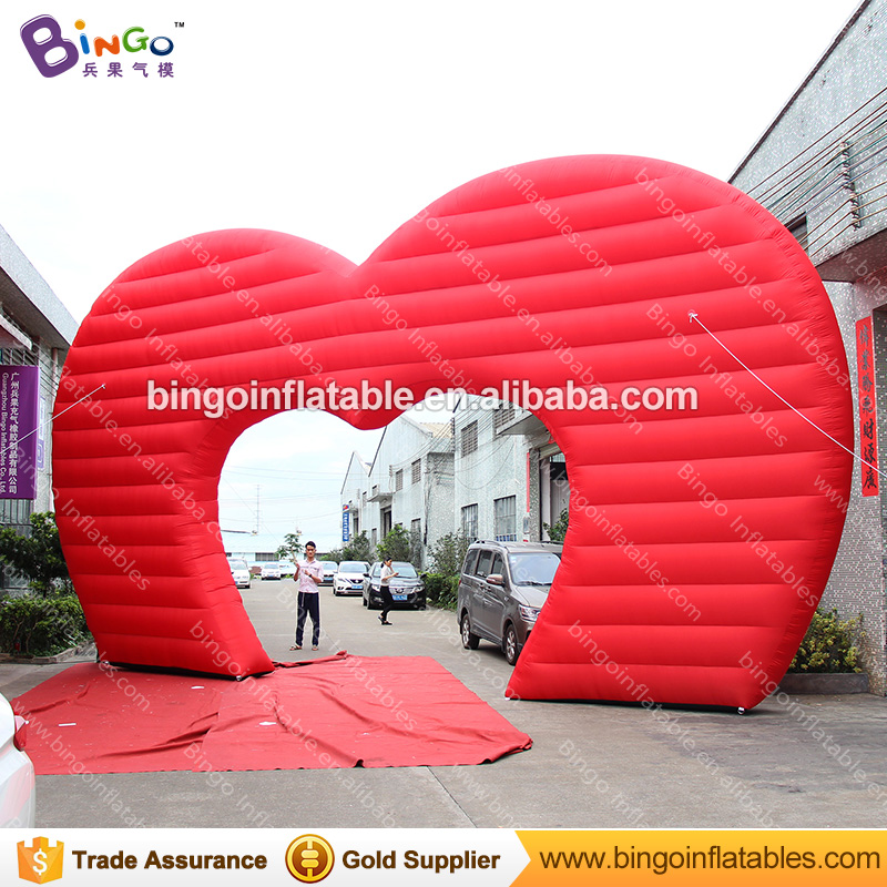 Wedding Decoration Inflatable Heart Shaped Arch Inflatable Heart Archway Inflatable Wedding Arch for Wedding Party Decoration heart shape inflatable lamp post inflatable lighting decoration for wedding n valentine s day celebration light up toy