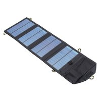 7W Solar Charger For Mobile Phone Folding Mono Solar Panel Compact Portable Solar USB Battery Charger