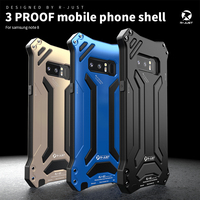 R JUST Life Waterproof Aluminum Case For Samsung Note 8 Shock Dropproof Metal Silicone Cover For Samsung galaxy note 8 Newest