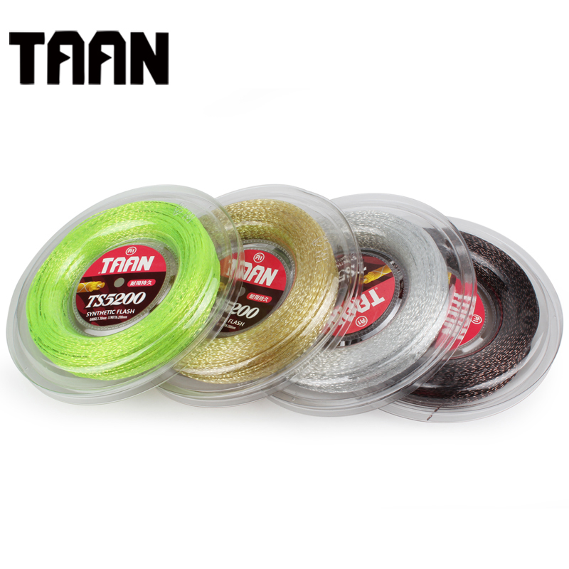 1 Rell TAAN TS5200 Tennis Strings 1.30mm Soft Tennis String 200m Synthetic Flash Tennis Racket strings 1pc taan tt8700 tennis string flexibility tennis racquet string soft poly string rackets string 1 1mm