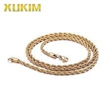 GSC001 Xukim Jewelry Gold Silver Plating Rope Chain цены