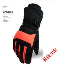GLV800 C Warm winter ski font b gloves b font men and women lovers cycling prevent