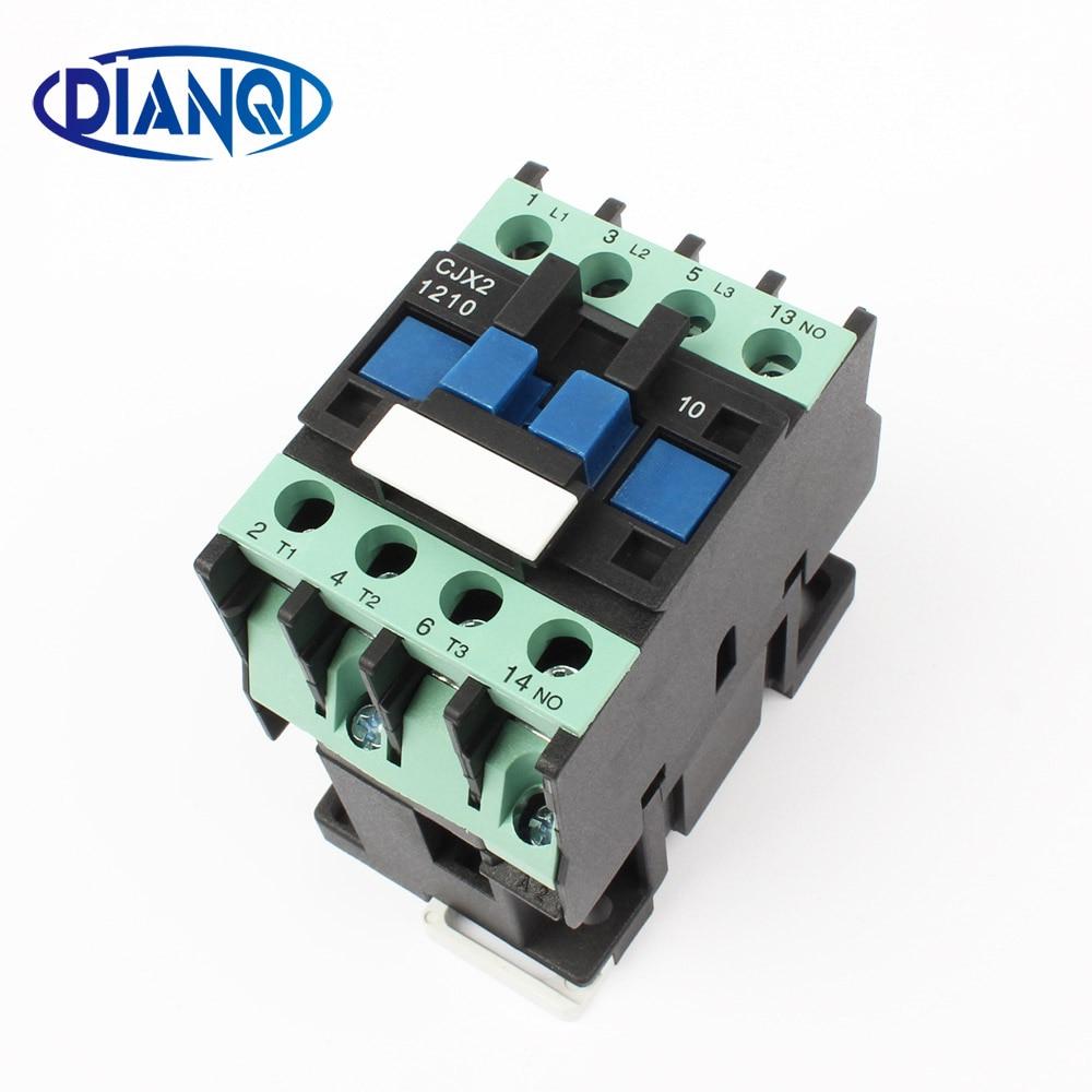 auxiliar de partida KOHTAKTOP CJX2 1210 LC1 ac contactor 220V AC 12A 50HZ/60HZ lc1 1210 220v цена