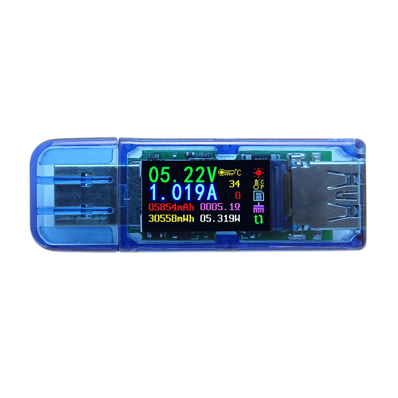 At34 Usb 3 0 Color Lcd Voltmeter Ammeter Voltage Current Meter Multimeter Battery Charge Power Bank