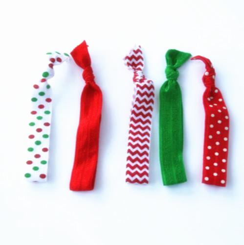 unids lazos elsticos del pelo conjunto de cinco navidad cintas para el pelo