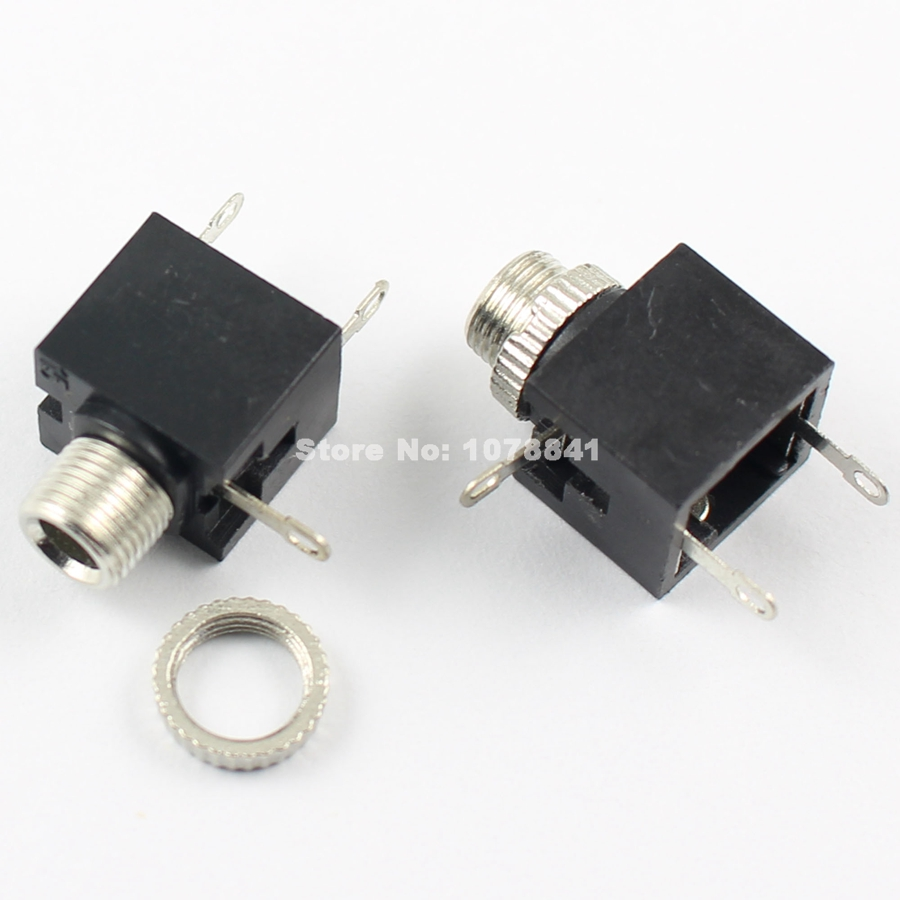 10Pcs Per Lot 3.5mm 1/8 Audio Connector Female 3 Pin DIP Headphone Jack PJ301M
