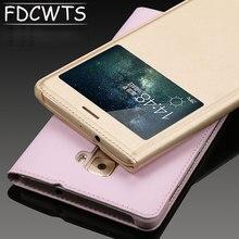 FDCWTS HuaWei Mate S için kılıfı açık pencere kapak kapak PU deri kılıf çapa HuaWei Mate S için akıllı kapak uyku kılıfları coque