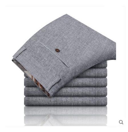 Pantalones de los hombres Rectos de los pantalones de lino Del Verano pantalones casuales de Algodón pantalones largos
