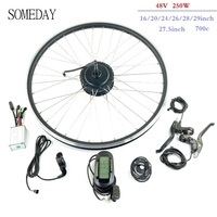 Electric conversion kit 48V 250W rear rotate hub motor with LCD6 display