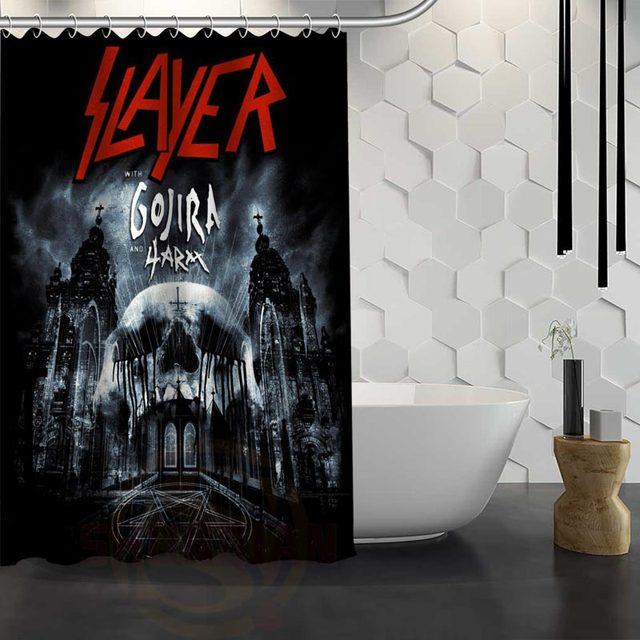 Online Shop Hot Sale Custom Slayer Logo Shower Curtain Waterproof ...