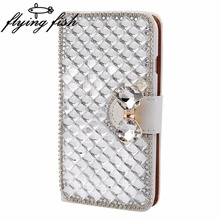 For Huawei Y5 II/Huawei Y6 Elite/Y6 2 compact Case Luxury Bling Crystal Rhinestone Diamond Flip Leather Case Cover for Y5 2