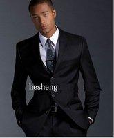 2018 Роскошные Короны счетчики подлинных простые черные мужские три кнопки джентльмен платье костюмы костюм + брюки, SU15