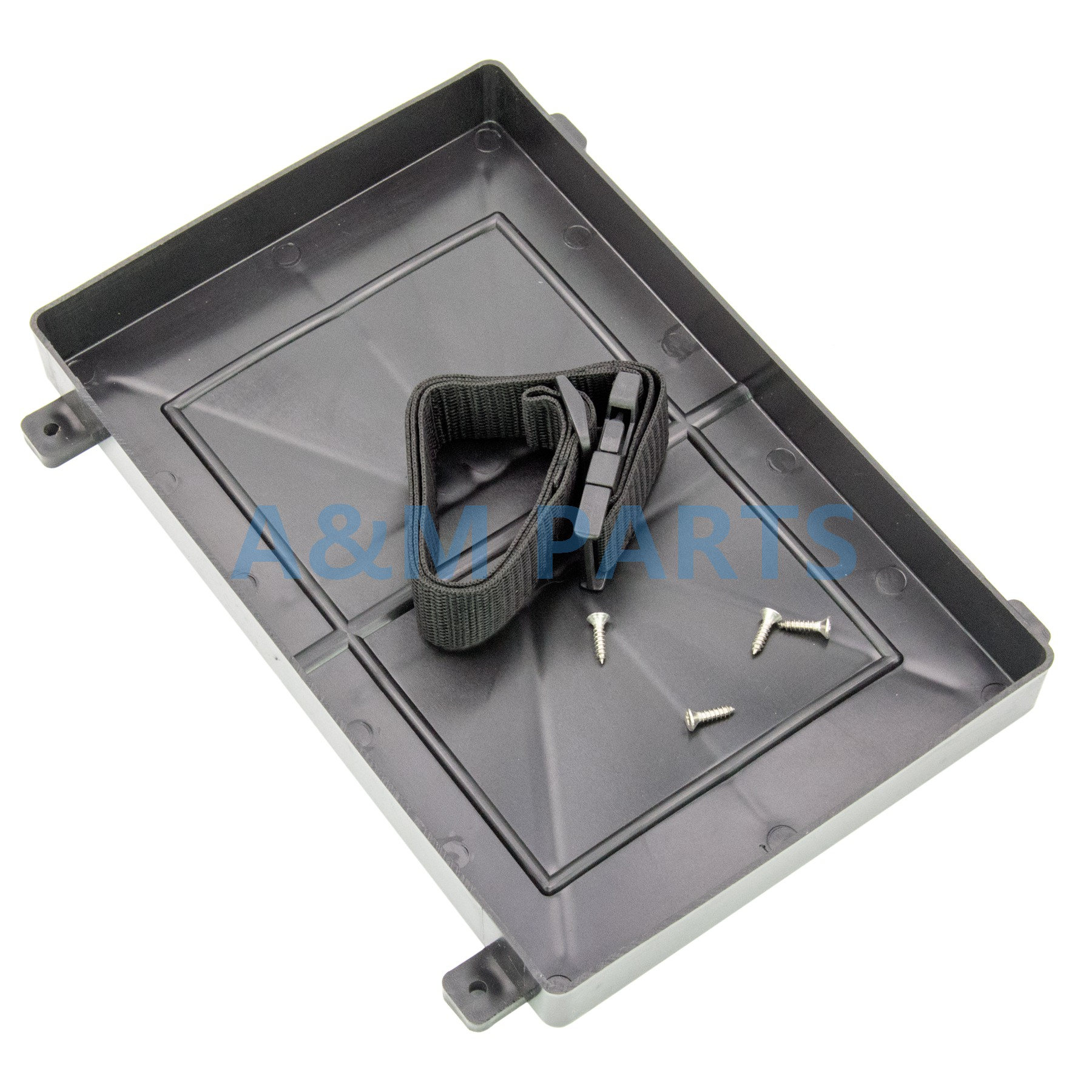 Plastic Marine Boat Battery Tray Box Bracket with Strap for RV Truck