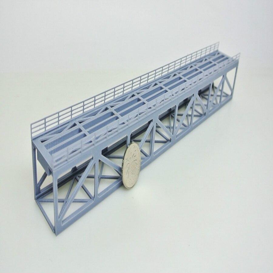 1/160 1/150 N rapport échelle train pont ferroviaire modèle structure inférieure en treillis impression 3D pour n ho train disposition
