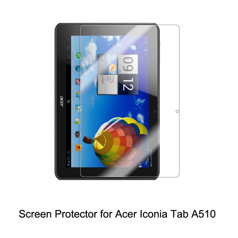 Clear LCD PET Film Anti-Scratch / Touch Responsive <font><b>Screen</b></font> Protector Cover for <font><b>Acer</b></font> Iconia Tab <font><b>A510</b></font> Tablet Accessories image