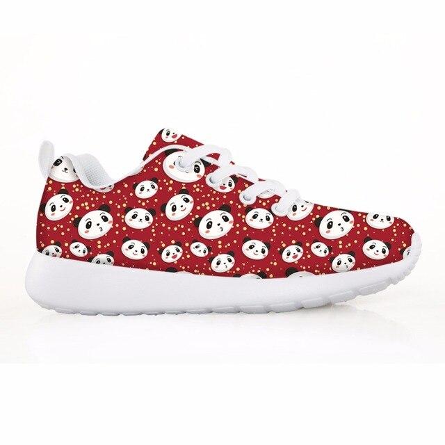 1e9d10b4975 Noisydesigns dibujos animados lindo Panda patrón niñas Casual zapatillas  planos suaves niños zapatos cómodos para Envío Directo
