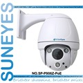 SunEyes SP-P906Z-POE PTZ Dome IP Camera Outdoor Pan/Tilt/Zoom Micro SD Slot POE Built-in Wall Bracket Super IR Night Vision