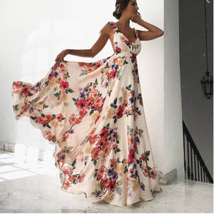 9b88cc8080f Loneyshow 2018 Summer maxi Dress Women Sexy Beach Long