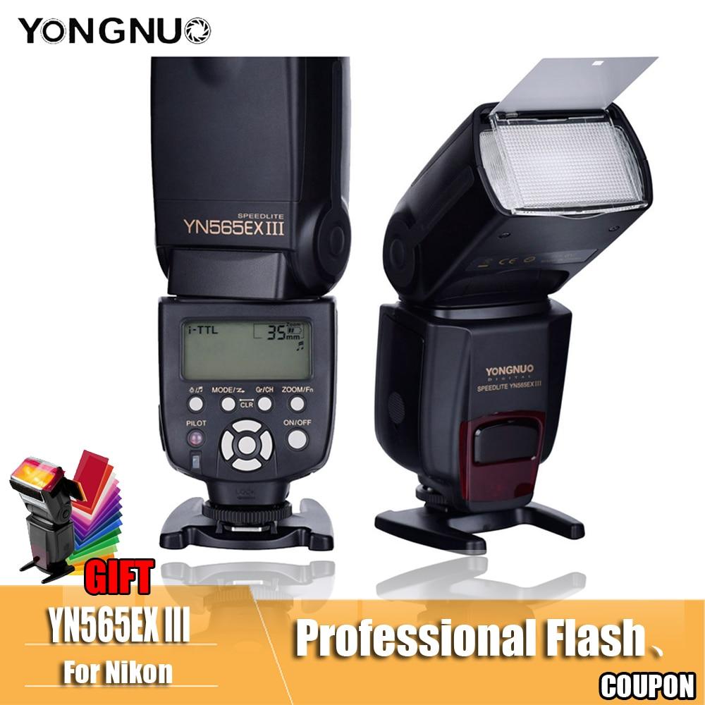 YN565EX III Flash YONGNUO TTL Speedlite YN-565EX N Pour Nikon D7100 D7000 D5200 D5100 D5000 D3100 D3000 D300 D300s D200 d90 D8