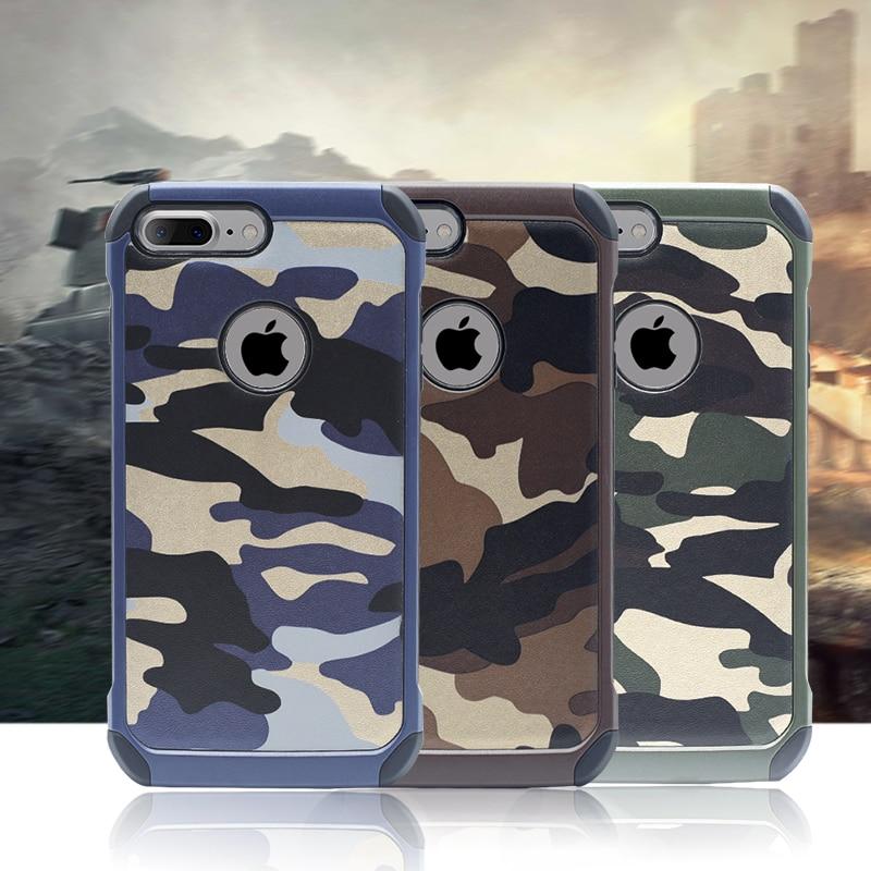 Haissky camuflaje case para iphone 7/7 plus casos armadura dura de la PC y de TP