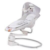 Безопасности ЕС детское кресло качалка Детская электрическая колыбель качающаяся кровать успокаивает ребенка артефакт спит новорожденно