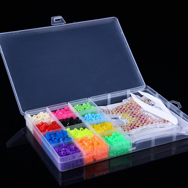 12 Colors Perler Beads1200pcs box set 5mm Hama Beads EVA Fuse beads for Children Education jigsaw puzzle Toys