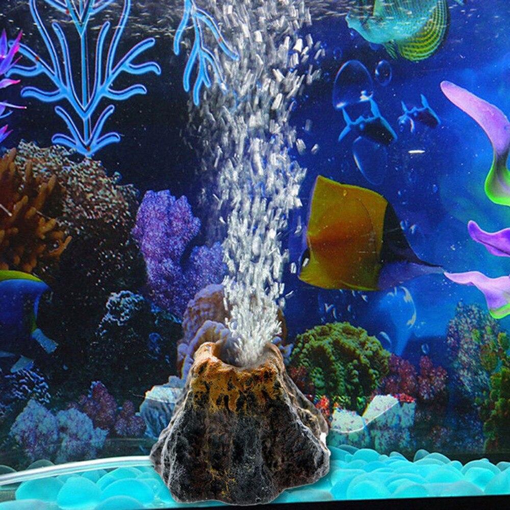 2019 Nieuwe Aquarium Vulkaan Vorm Luchtbel Steen Zuurstof Pomp Fish Tank Ornament Decor Up-To-Date Styling