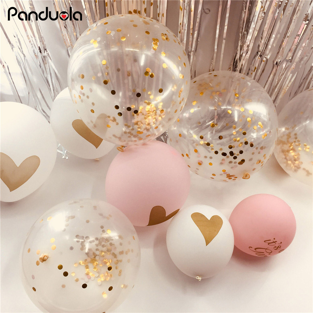 Clear Confetti Balloons Wedding Decoration Party Supplies Decorating Accessories Birthday Party Decoration air balloons birthday