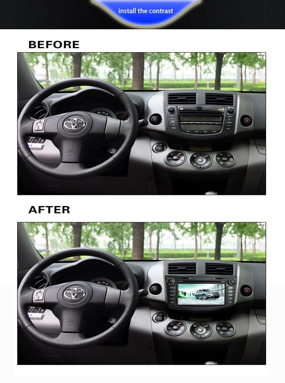 Новые 8 Core 1024*600 HD Экран 2 DIN Android 6.0 Автомобильный DVD для Toyota RAV 4 RAV4 аудио видео Стерео GPS навигации Радио RDS 4 г