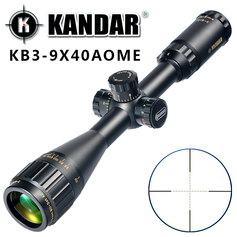 KANDAR Gold Edition 3-9x40 AOME Glass Etched Mil-dot Reticle Locking RifleScope Hunting Rifle Scope Tactical Optical Sight kandar 6 18x56q front tactical riflescope big objective with glass plate riflescope military equipment for hunting scopes