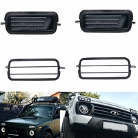 2 Pcs Car Styling Accessories LED Daytime Running Lights for Lada Niva 4x4 1995 with Running Amber Turn Signal Light Lamp DRL