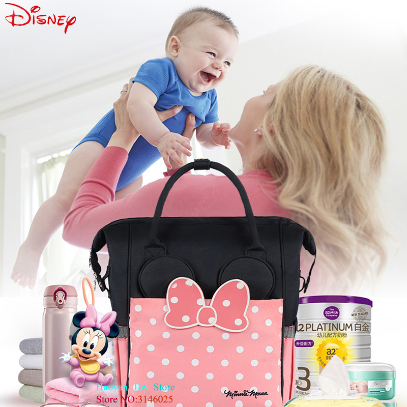 Disney Thermal Insulation Bag High capacity Baby Feeding Bottle Bags Backpack Baby Care Diaper Bags Polyester