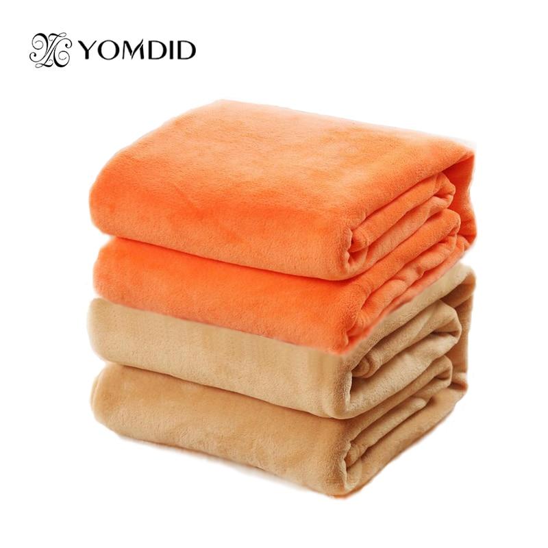 Queen size blanket Solid color sofa/bedding Throws Flannel Blanket 200*230cm Winter Warm Bedsheet 12 colors