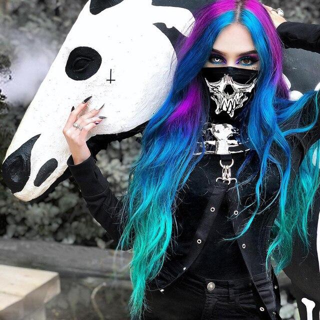 Hollowed out black hoodie with skeleton print