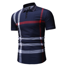 YASUGUOJI new 2019 summer short sleeve polo shirt men Smart Casual striped shirts formal puerto rico polos para hombre