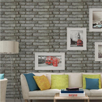 College dormitory self adhesive wall stickers thickened retro brick pattern pvc waterproof wallpaper wall decoration stickers