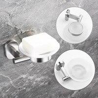 무료 배송 SUS304 스테인레스 스틸 벽 마운트 비누 접시 욕실 스토리지 랙