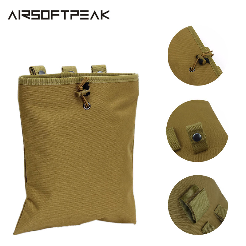 CQC Molle System AR15 Tactical Molle Dump Magazine Pouch Hunting Recovery Bag Drop Pouch Airsoft Accessories Reloader Pouch BagCQC Molle System AR15 Tactical Molle Dump Magazine Pouch Hunting Recovery Bag Drop Pouch Airsoft Accessories Reloader Pouch Bag