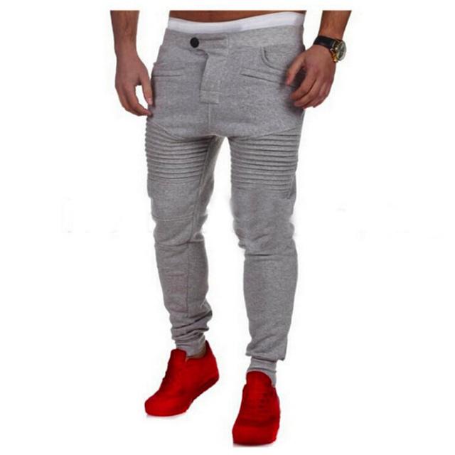 2016 NUEVA llegada del otoño la moda corredores slim fit pantalones de los hombres pantalones pantalones de chándal harem pantalones de chándal homme hombres pantacourt hombre