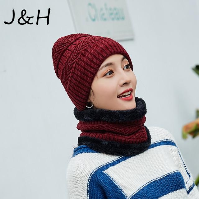 b1db7cc5741 2018 Balaclava Skullies Beanies Knit Hat Winter Cap For Man Thicken Hedging  Neck Warmer Women Scarf Hat Set Drop Shipping