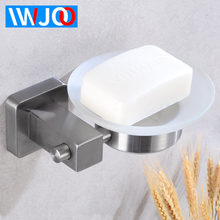 Soap Holder Shower Stainless Steel Soap Dish Storage Rack Wall Mounted Soap Dishes Box Glass Tray Creative Bathroom Shelf Corner все цены