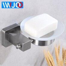 купить Soap Holder Shower Stainless Steel Soap Dish Storage Rack Wall Mounted Soap Dishes Box Glass Tray Creative Bathroom Shelf Corner по цене 1484.96 рублей