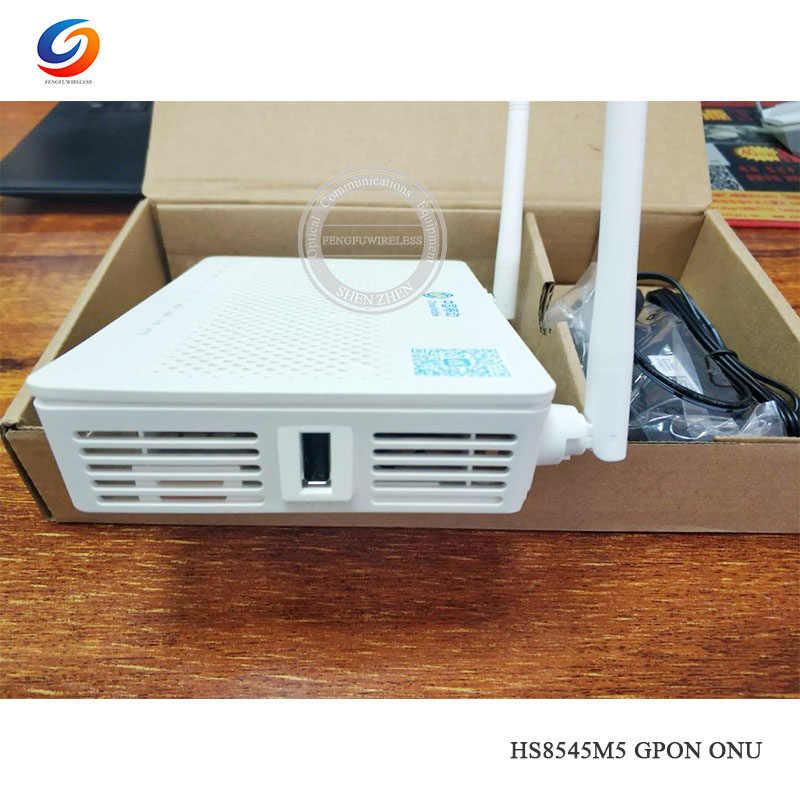 Оригинальный Новый Hua Wei GPON ONU ONT FTTH Fibra оптика HS8545M5 GPON маршрутизатор 1GE + 3FE + 1TEL + USB + Wifi Мини Размер английская прошивка