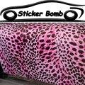 Горячая розовая леопардовая Наклейка Бомба для автомобиля леопардовая камуфляжная Фольга Наклейка для автомобиля чехлы для кузова упаков...