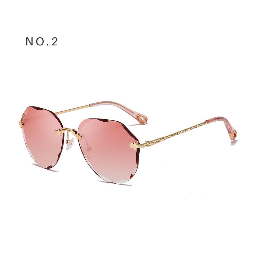 AEVOGUE Sunglasses For Women ladies Rimless Diamond cutting Lens Brand Designer Ocean Shades Vintage Sun Glasses AE0637 7