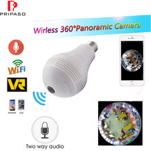 Wifi Panoramic 360 Degree Camera Wireless IP Camera 960P 1.3MP 3D VR Light Bulb Mini FishEye Home Security CCTV Camera(China)